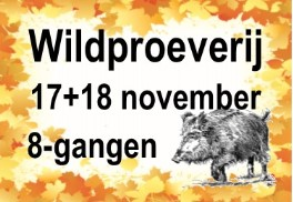 8-gangenproeverij Winters Wild op 17 en 18 november